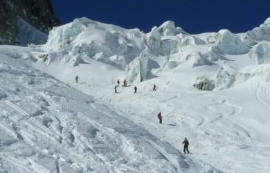 descente de la Vallee Blanche