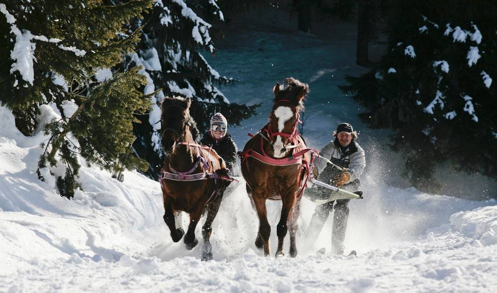 Le Ski Joëring - Photo par Manu Reyboz - manureyboz.com