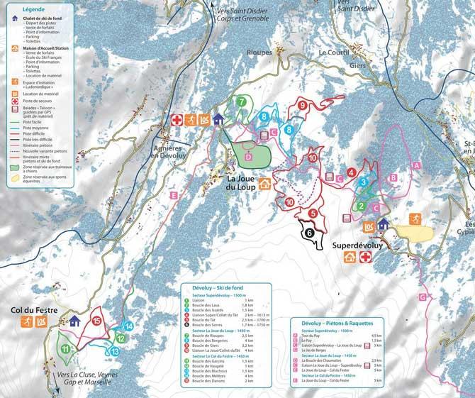 Crédit Photo Plan des pistes : http://www.domaine-nordique-devoluy.com