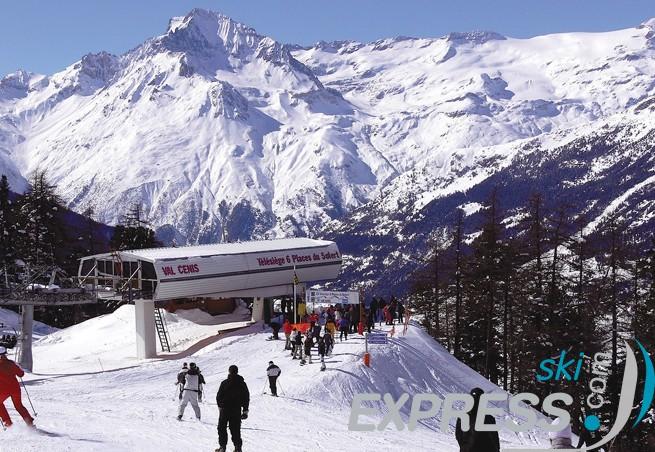 Val Cenis skier en altitude