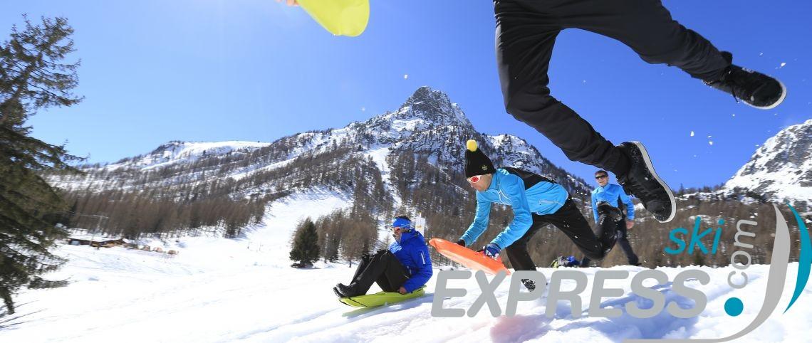 La luge après le ski