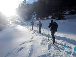des skieurs de randonnée d'Arêches Beaufort